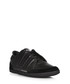 Black leather lace-up trainers  Sale - y-3 Sale