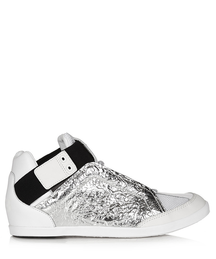 Men's silver-tone & white sneakers Sale - y-3