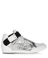 Men's silver-tone & white sneakers Sale - y-3 Sale