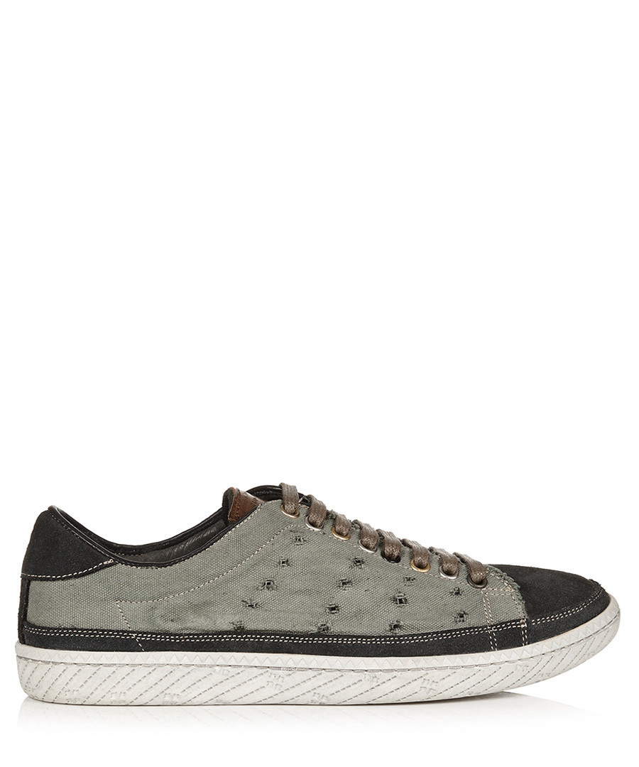 Mint & grey suede trainers Sale - paul smith