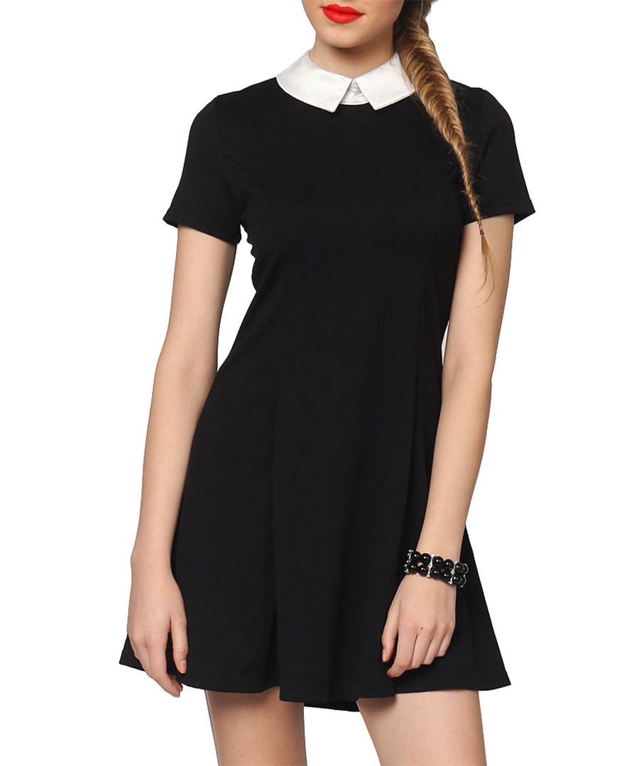 c9e52a8eb2ca Black   white collar skater dress Sale - Euforia ...