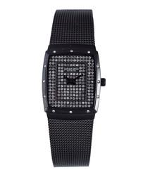 Tondor crystal stainless steel watch