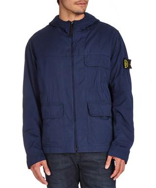 Blue hooded cargo pocket jacket Sale - Stone Island Sale 04212adaf