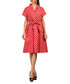 Red polka dot pure cotton shirt dress Sale - Kushi Sale