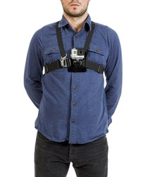 Image of Black adjustable chest harness