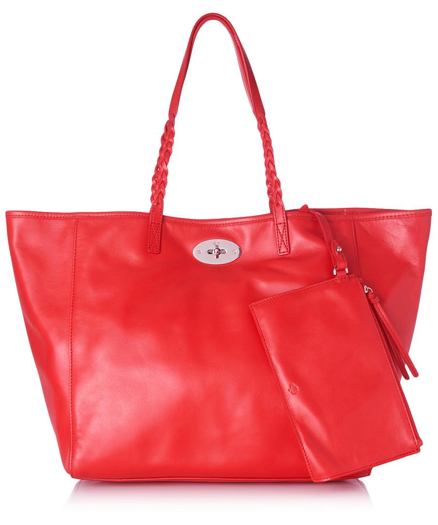 Dorset medium red leather tote bag Sale - Mulberry ... 18ce332821c86