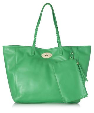 Dorset medium green leather tote bag Sale - Mulberry Sale e7a03e053bf0f