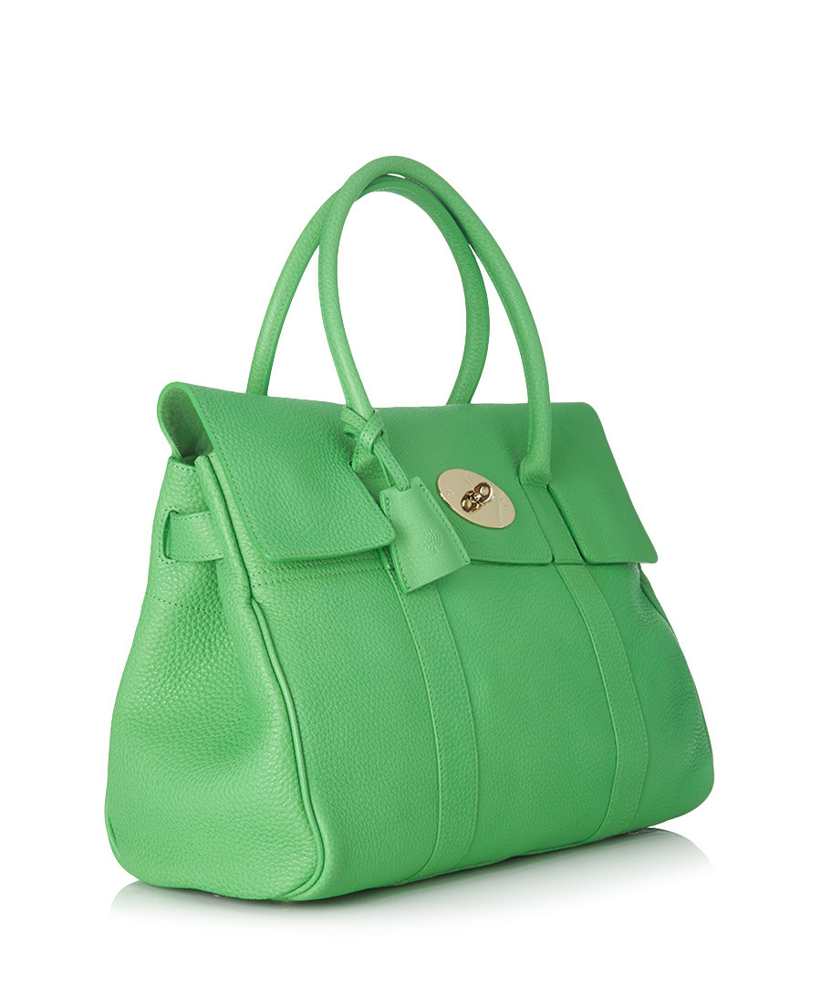 83d795a5fd29 ... Bayswater green leather tote bag Sale - Mulberry ...