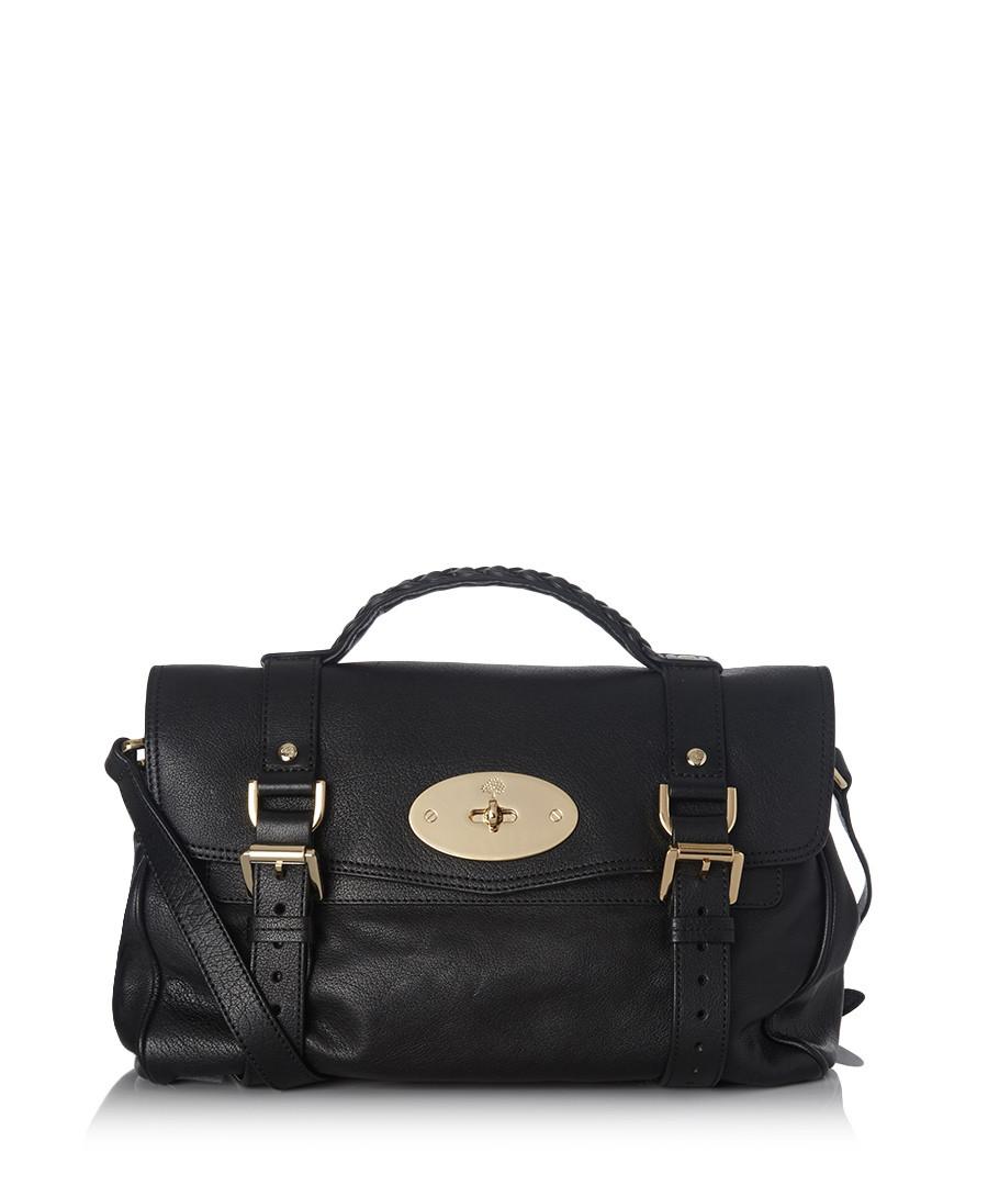 81903015be Alexa black leather satchel Sale - Mulberry
