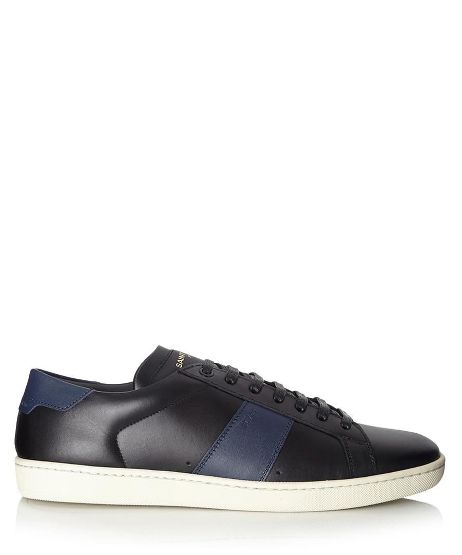 Men's black & blue leather trainers Sale - saint laurent