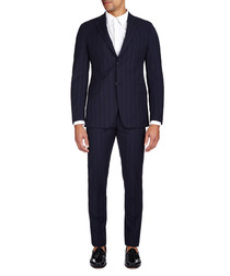 Dark blue pure wool two-piece suit
