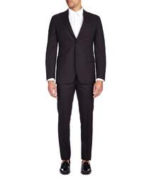 Charcoal tonal stripe two-piece suit