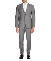 Light grey tonal stripe two-piece suit