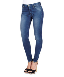 The Skinny high blue cotton blend jeans