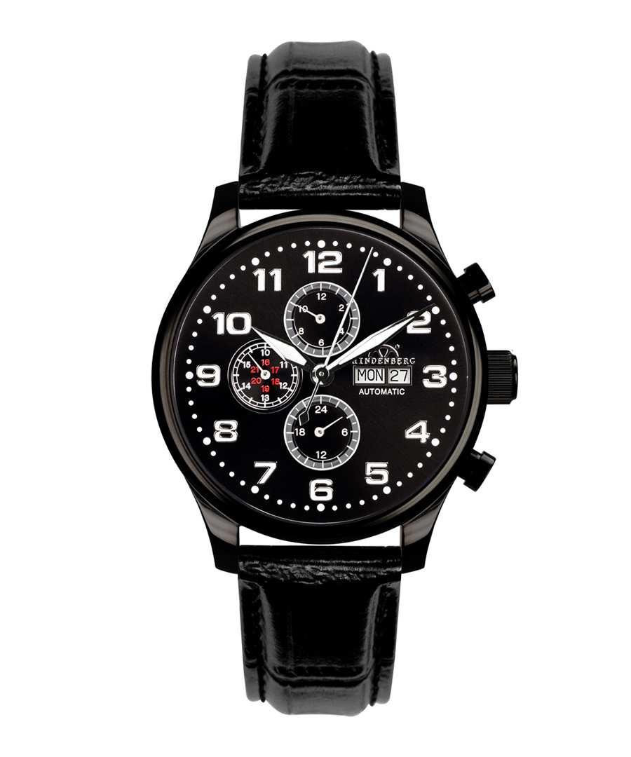Excellence black chronograph watch Sale - hindenberg