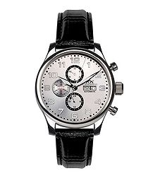Excellence black leather watch