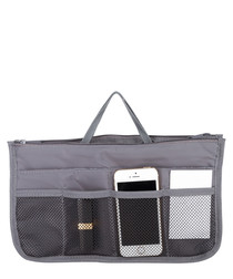 Black multi-pocket organiser bag