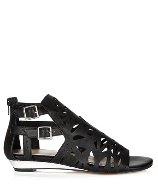 036caf9f863 Black   gold-tone cut-out sandals Sale - Lacey s London Sale