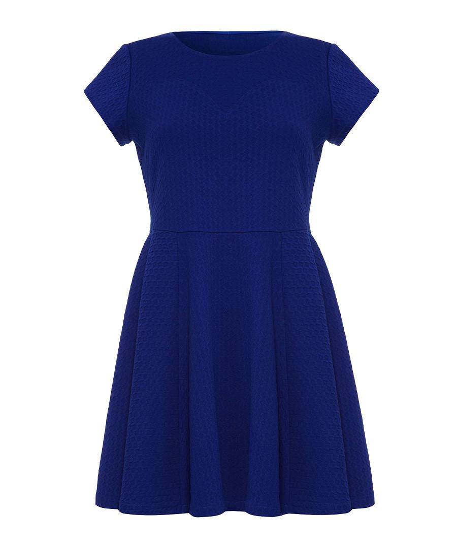 Blue short-sleeved skater dress Sale - ISKA