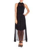 D-Moka-A black polka dot dress