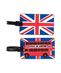 2pc British theme luggage labels