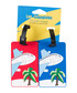 2pc red & blue palm tree luggage labels Sale - les bagagistes Sale
