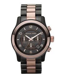 Runway gunmetal-tone steel watch