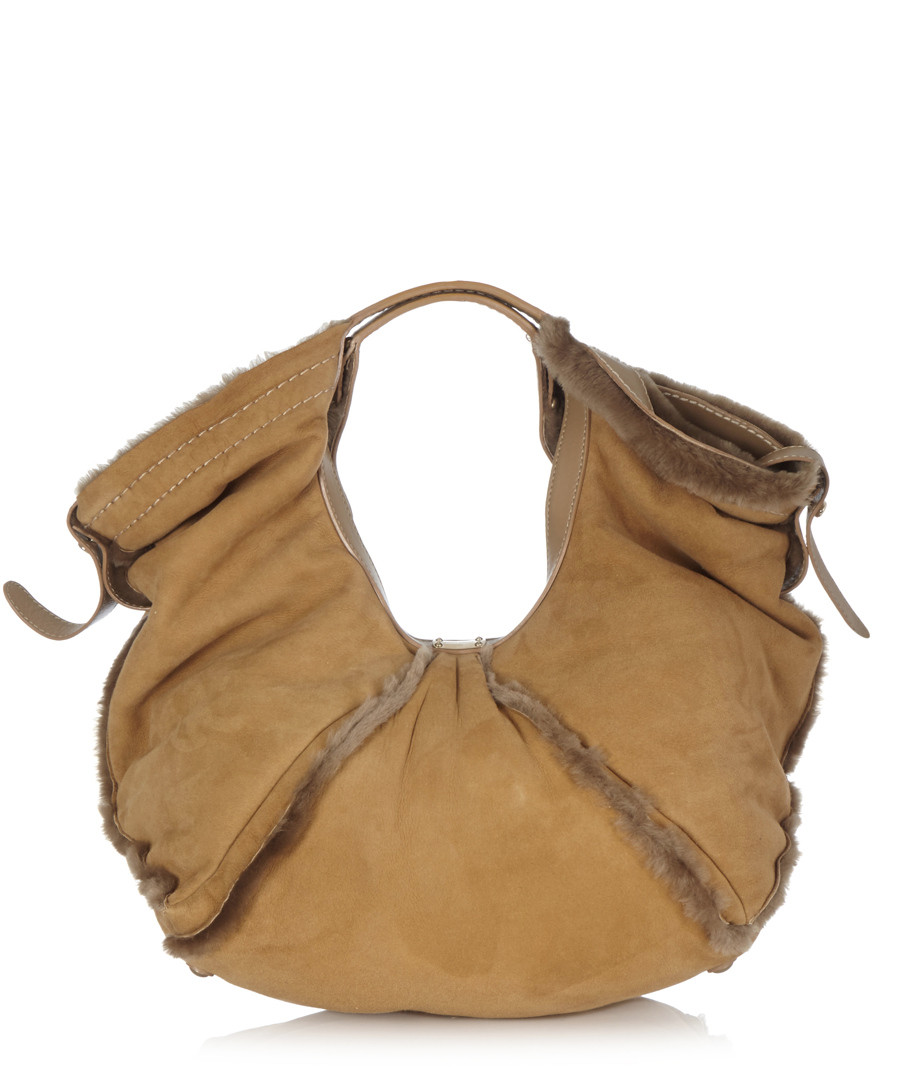 Camel suede shoulder bag Sale - Jimmy Choo