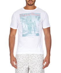 The Duke white cotton blend T-shirt