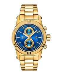 Strider gold-plated diamond watch