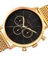 Gold-tone & black dial mesh strap watch Sale - akribos Sale