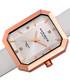 White leather & diamond dial watch Sale - Akribos XXIV Sale
