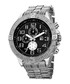 Silver-tone & black dial crystals watch Sale - Joshua & Sons Sale