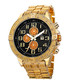 Gold-tone & black dial crystals watch Sale - Joshua & Sons Sale