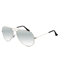 Silver-tone gradient Aviator sunglasses