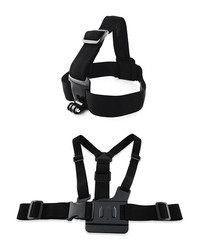Image of 2pd black adjustable strap & harness