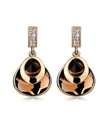 Graceful 18ct gold-plated earrings