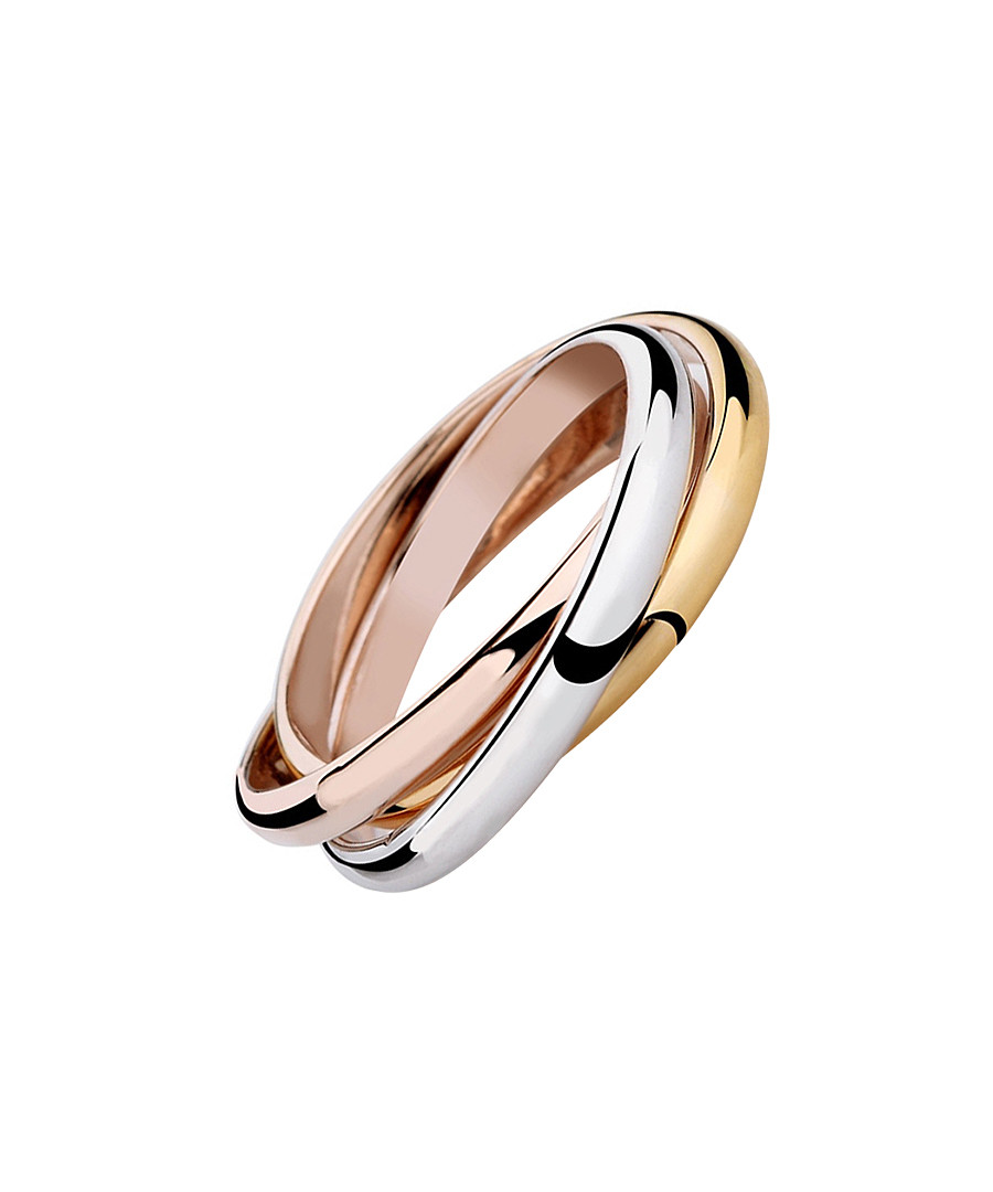 Unity 18ct gold-plated triple ring Sale - caromay