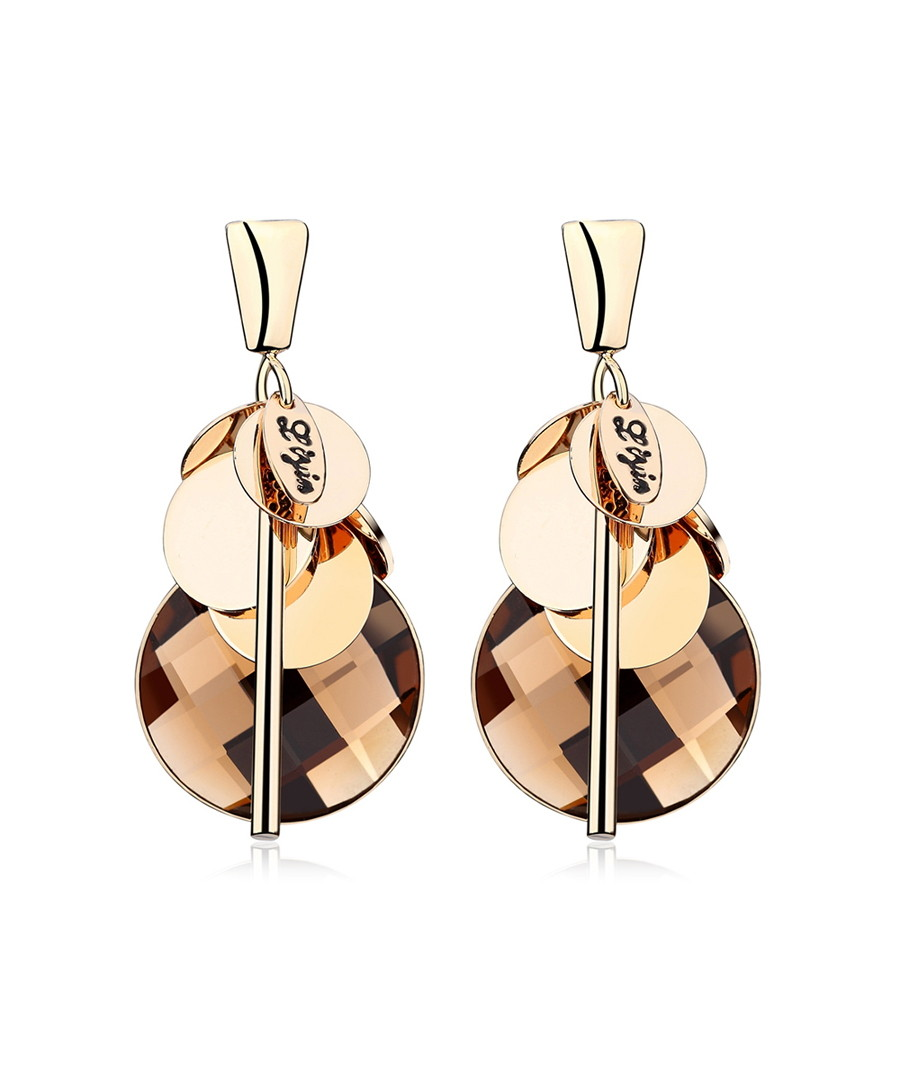 Gathering 18ct gold-plated earrings Sale - caromay