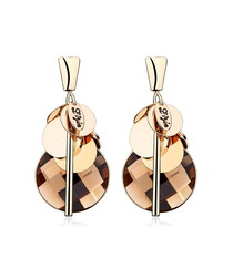 Gathering 18ct gold-plated earrings