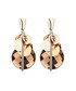 Gathering 18ct gold-plated earrings Sale - caromay Sale