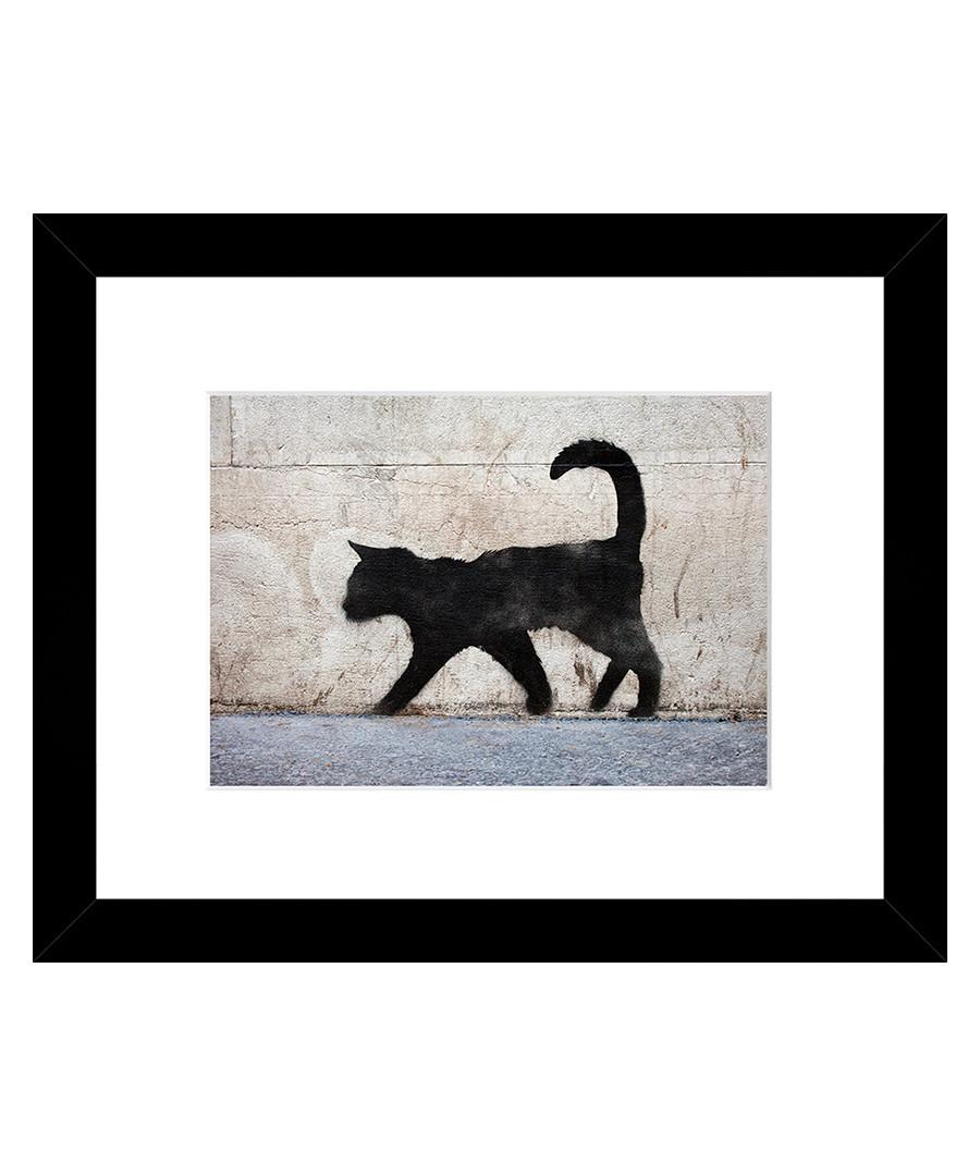 Bad Kitty framed print 33cm Sale - banksy