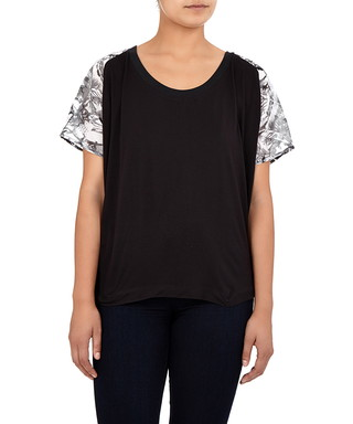 Black   white abstract print top Sale - Religion Sale 010bba402