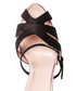Nina black leather & satin heeled shoes Sale - DE SIENA Sale