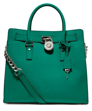 d7f31d09043f Hamilton NS aqua leather tote Sale - Michael Kors Sale