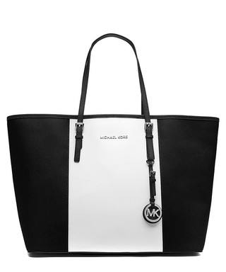 Jet Set monochrome leather travel tote Sale - Michael Kors Sale 8b744585e9b66