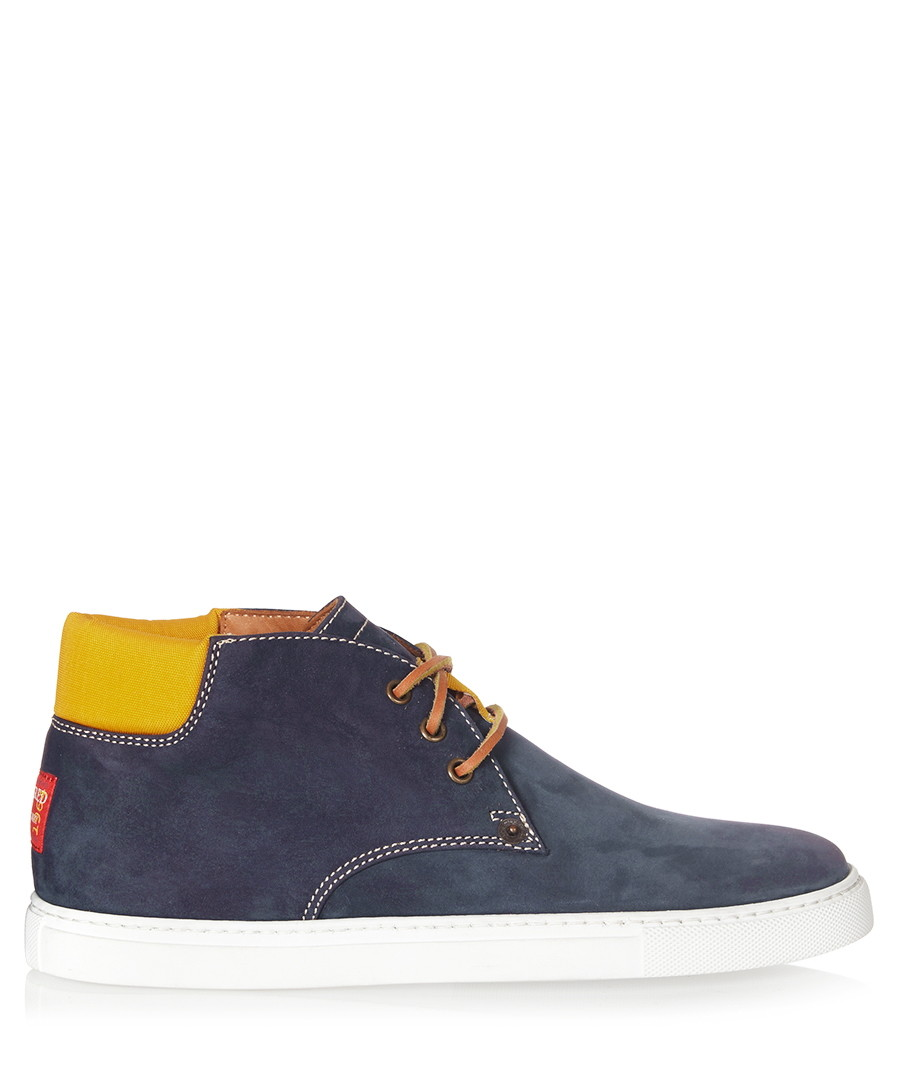Men's blue suede laced trainers Sale - dsquared