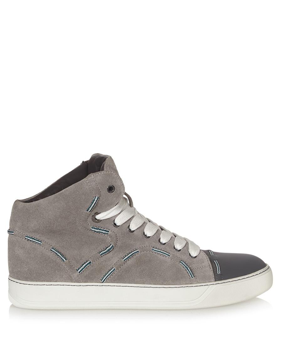 Stitch & lace detail grey trainers  Sale - lanvin