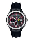 Lap Time woven dial chronograph watch