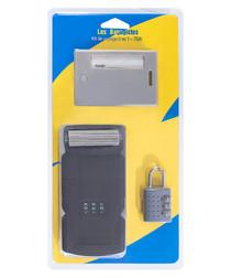 Grey lock & luggage tag set